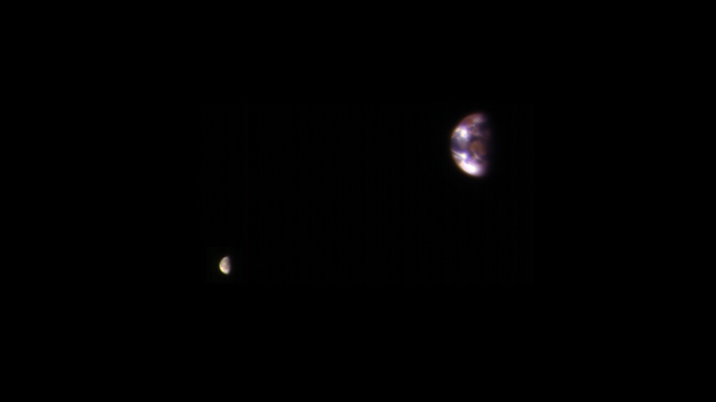 NASA Brings Out Spectacular Images, Screening View of Earth And Its Moon from Mars