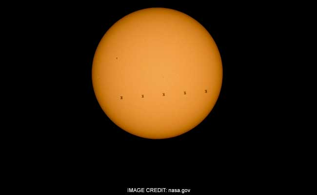 NASA Captures the Spectacular Image of ISS's Solar Transit Moving at 28,968 Km/Hr