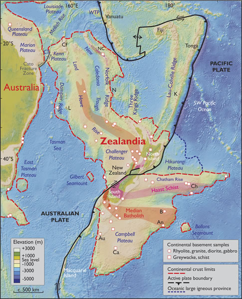Scientists discover eight continent Zealandia submerged under water