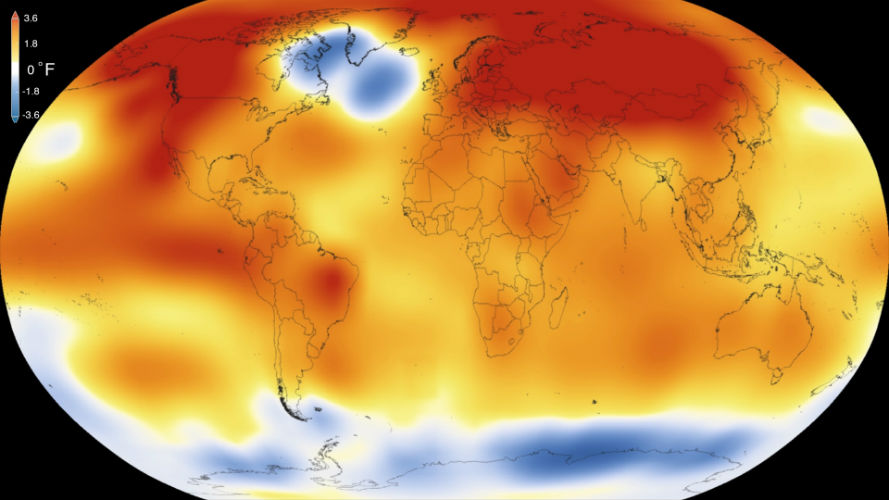 2016 to set the record of warmest year, warns NOAA