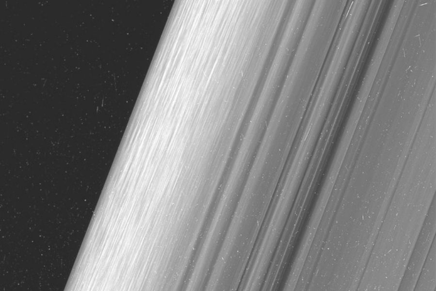 Saturn Rings captured by Cassini Spacecraft