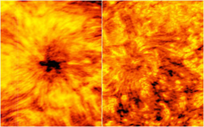 Scientists Unveil Massive Shady and Knotted Sunspot Centre Having Twofold Width of Earth