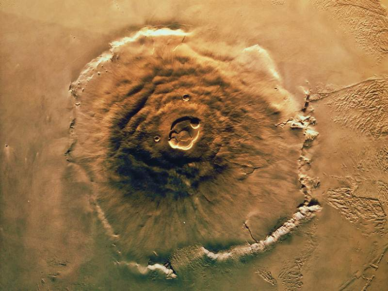 Two-Billion-Years-Old Volcano Activity on Mars
