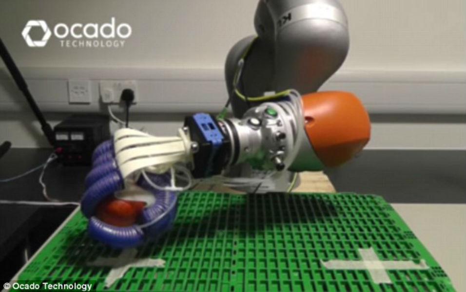 Ocado Tests Soft Robotic Hand