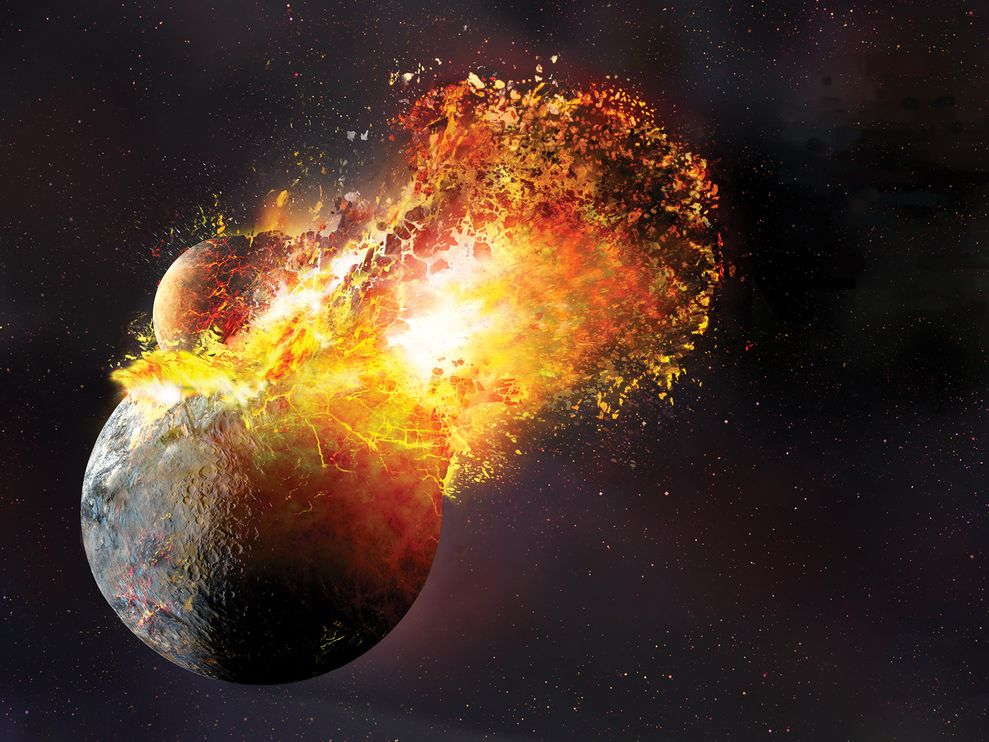 Collision of Moon and Earth Will Turn the Planet into an Ocean of Magma