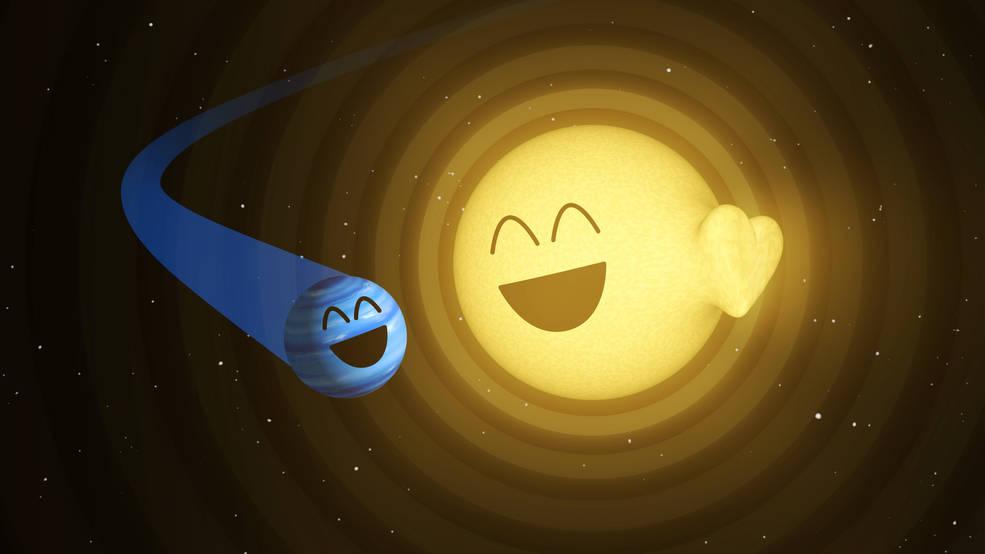 Celestial Valentine: NASA's Spitzer Space Telescope Detects Tumultuous Romance between Star & Planet