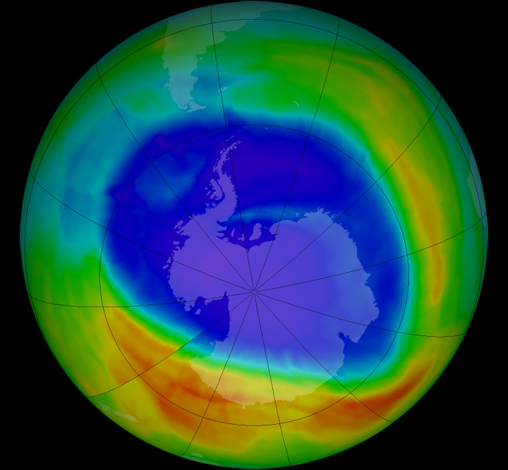 Ozone Concentration is decreasing