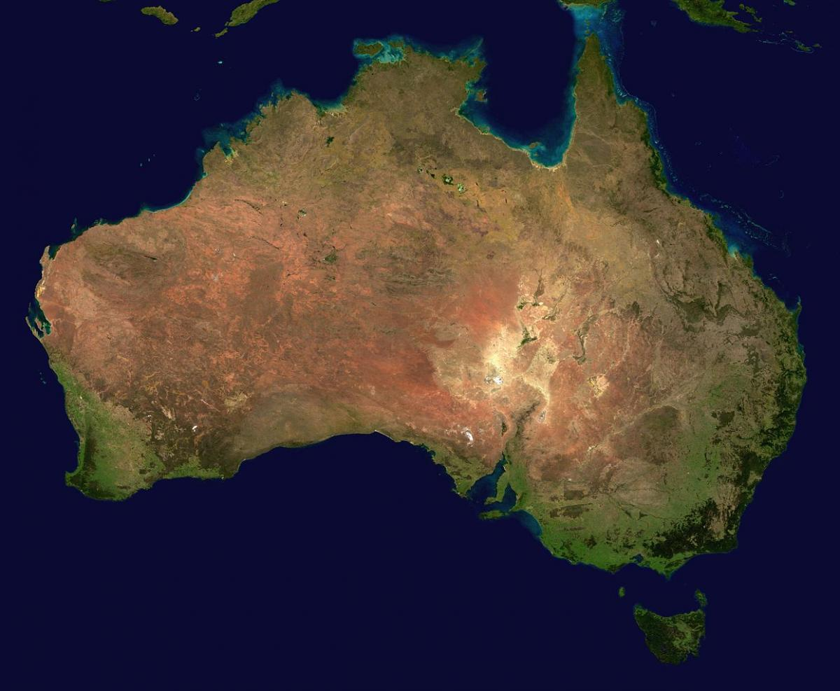 North American land found in Australia
