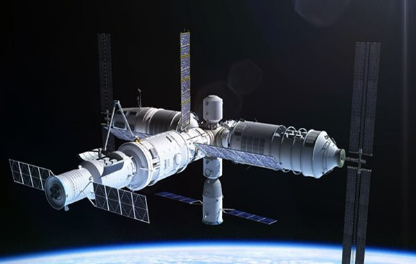 Space station falls out of the sky
