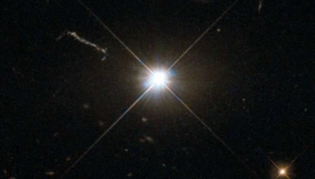 A newly-discovered supermassive black hole found that shines brighter than an entire galaxy