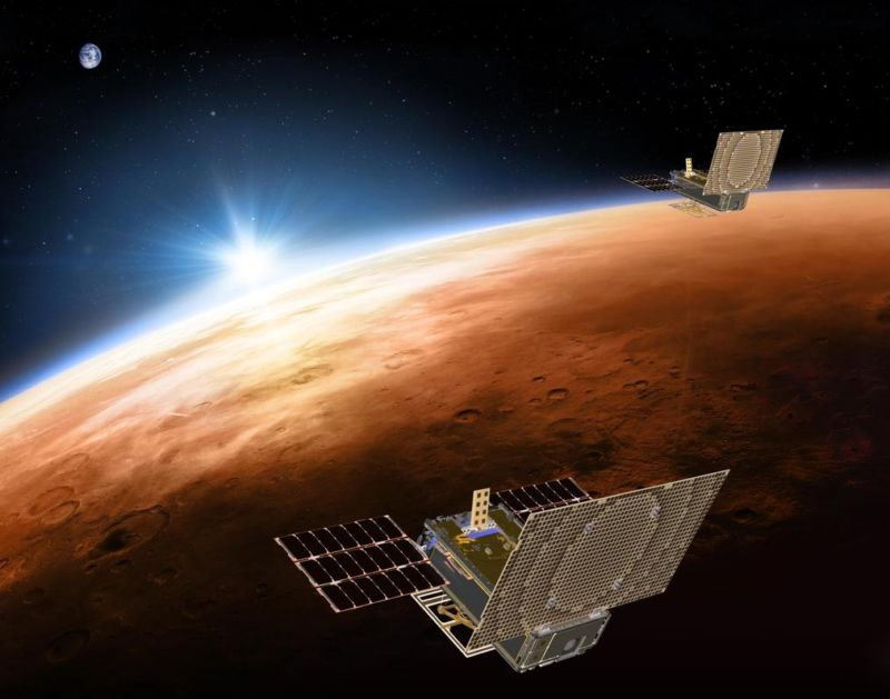 NASA's Twin CubeSats Heading Towards Mars